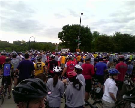 Start of the 42 mile Tour de Fort ride