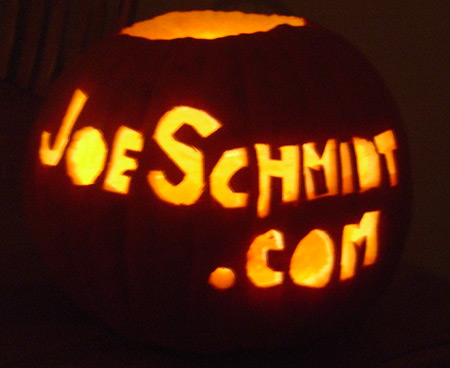 The JoeSchmidt.com Pumpkin